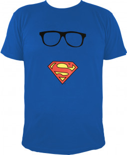 "Superman - Herren T-Shirt, blau - 100% Baumwolle - ""Superman`s Maske"""