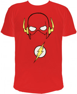 "The Flash - Herren T-Shirt, rot  - 100% Baumwolle - ""Flash´s Maske"""
