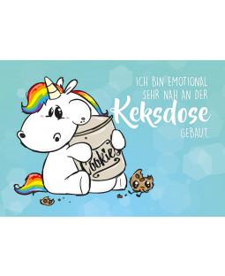 """Pummeleinhorn Postkarte A6, Nr. 2, """"Keksdose"""""""