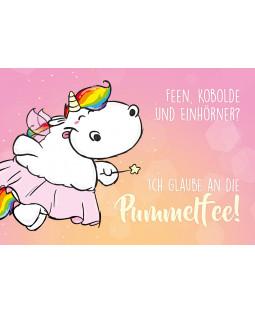 "Pummeleinhorn Postkarte A6, Nr. 9 , ""Pummelfee"""
