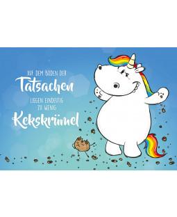 """Pummeleinhorn Postkarte A6, Nr. 12, """"Kekskrümel"""""""