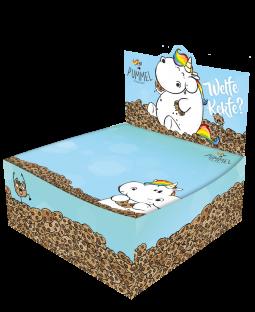 """Pummeleinhorn Zettelbox ( 10 x 10 cm, 300 Blatt), """"Kekfe"""""""