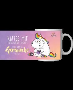 """Pummeleinhorn Tasse, """"Geräusche"""", ca. 320ml"""