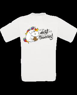 """Pummeleinhorn T-Shirt, """"Flauschig"""", weiß"""