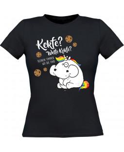 """Pummeleinhorn Damen T-Shirt, """"Kekfe"""", schwarz"""
