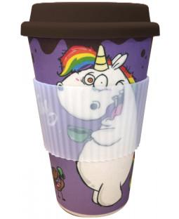 """Pummeleinhorn Bamboo Mug To Go, """"Tagloben"""", 380 ml"""