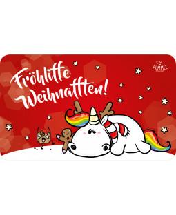 """Pummeleinhorn Brettchen, """"Fröhlifte Weihnachten"""""""