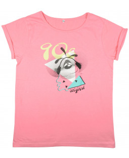 "Diddl T-shirt ""90's"" koralle Gr. M"