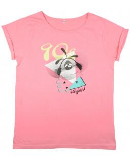 """Diddl T-shirt """"90's"""" koralle Gr. L"""