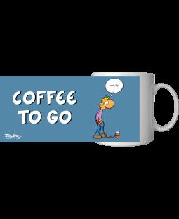 "Ralph Ruthe Kaffeetasse, ""Coffee to go"" 320ml"