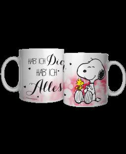 """Snoopy Tasse """"Hab ich dich"""""""