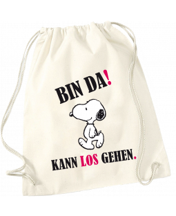 """Snoopy Stoffrucksack, """"Bin da, kann losgehen"""""""