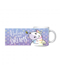 "Pummel & Friends - Tasse Becher Zebrasus ""Dreams"", Keramik 320 ml"