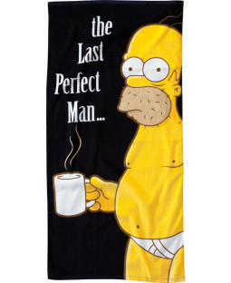 "The Simpsons - Homer Simpson Strandtuch ""The Last Perfect Man"" - 152 x 75 cm"