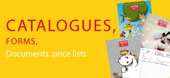 Kataloge, Formulare, Dokumente, Preislisten